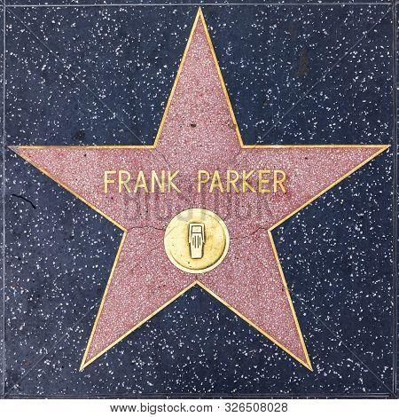 Jennifer Jones. - Mar 5, 2019: Closeup Of Star On The Hollywood Walk Of Fame For Frank Parker.