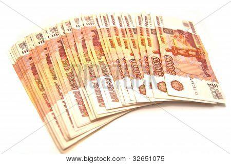 Russian 5000 Banknotes