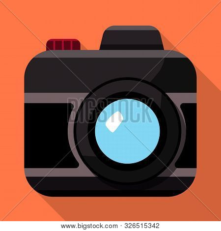 Vector Design Of Camera And Photo Icon. Set Of Camera And Dslr Vector Icon For Stock.