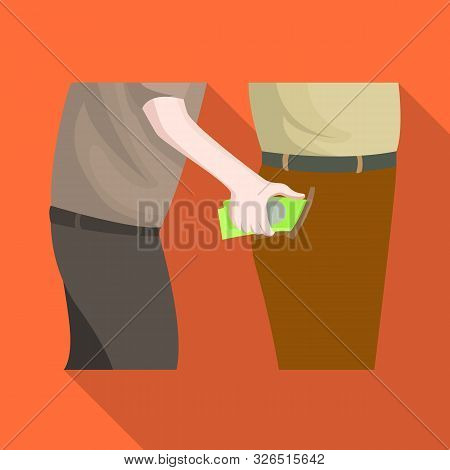 Isolated Object Of Pickpocket And Theft Logo. Set Of Pickpocket And Money Vector Icon For Stock.