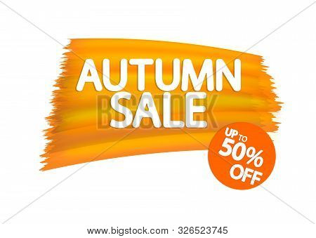 Autumn Sale, Up To 50% Off, Fall Discount Tag, Banners Design Template, Thanksgiving Day, App Icon,