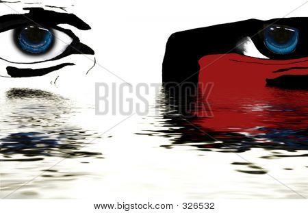 Rising Face Illustration