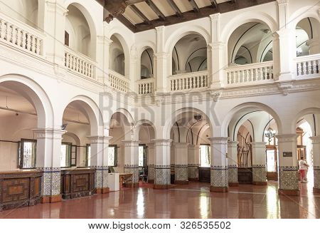 Mendoza, Argentina - Februar 15, 2018:  Inside Banco Hipotecario Nacional, Ministerio De Cultura De