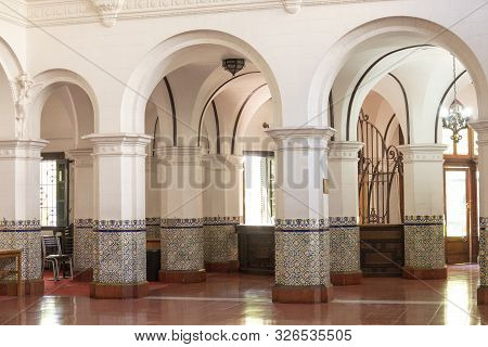 Mendoza, Argentina - Februar 15, 2018: Inside Banco Hipotecario Nacional, Ministerio De Cultura De M