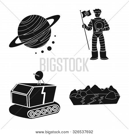 Isolated Object Of Colonization And Sky Icon. Set Of Colonization And Galaxy Vector Icon For Stock.
