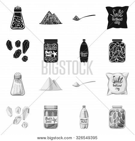 Isolated Object Of Cooking And Sea Icon. Set Of Cooking And Baking Vector Icon For Stock.