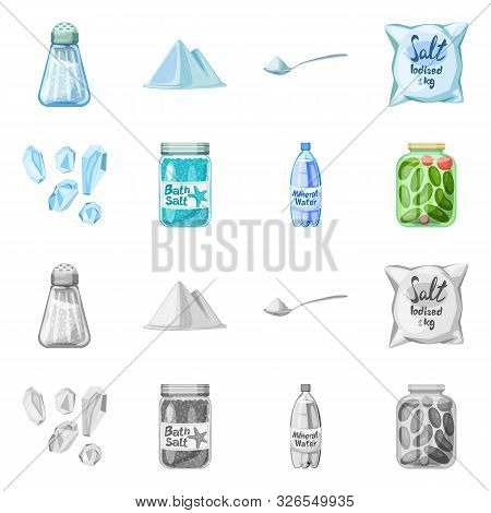 Isolated Object Of Cooking And Sea Sign. Collection Of Cooking And Baking Stock Symbol For Web.