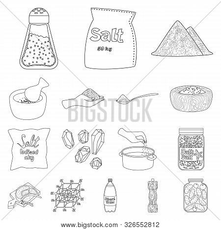 Isolated Object Of Sodium And Mineral Sign. Set Of Sodium And Kitchen Stock Symbol For Web.