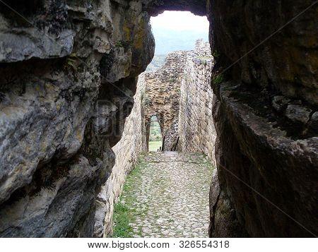 Main Door And Passageway, Kuelap, Luya, Amazonas, Peru, South America