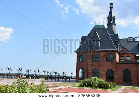 Jersey City, Nj - Aug 4: the Central Railroad Of New Jersey Terminal At Liberty State Park In Jersey