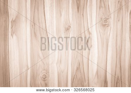 Wood Plank Brown Texture For Decoration Background. Wooden Wall All Antique Cracking Furniture Paint