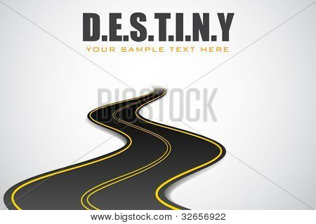 illustration of road in motivational destiny background
