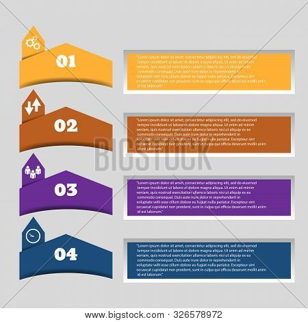 Infographic Color Design For Presentation Vector Eps 10