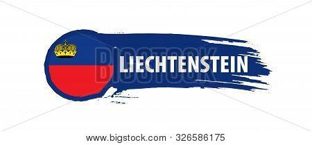Liechtenstein Flag, Vector Illustration On A White Background.