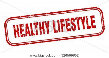 Healthy Lifestyle Stamp. Healthy Lifestyle Square Grunge Sign. Healthy Lifestyle