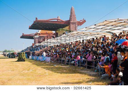 Audience Sitting Surin Elephant Roundup