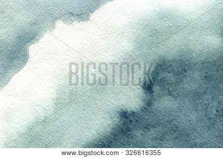 Watercolor Stain, Blot On A White Background. Abstract Cloud. Closeup Watercolor Texture For Design