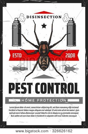 Pest Control Disensection And Protection, Sprayers And Insects. Vector Fumigation , Extermination Of