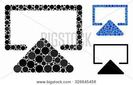 Enter Composition For Enter Icon Of Circle Elements In Different Sizes And Color Hues. Vector Round