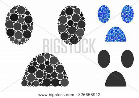 Fear Smiley Mosaic For Fear Smiley Icon Of Spheric Dots In Various Sizes And Color Tones. Vector Rou