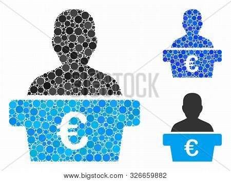 Euro Politician Composition For Euro Politician Icon Of Filled Circles In Variable Sizes And Color T