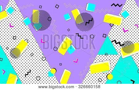Animation Cyan Banner. Purple Graphic Template. Memphis Artwork. Lemon Fashion. Spotty Texture. Viol