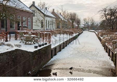 Winter In A Small Dutch Village