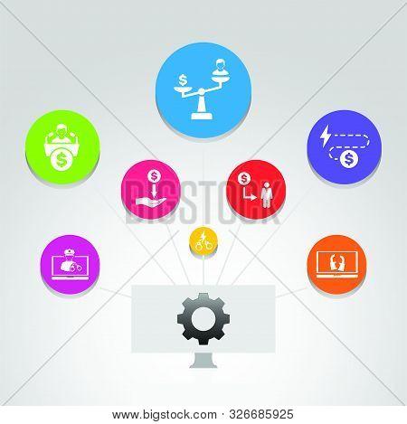 Corruption Infographics Vector Design. Timeline Concept Include Unjust, Provocation, Buy Votes Icons