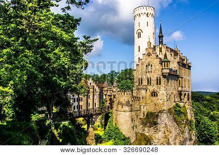 Natural Surroundings Of Lichtenstein Castle In Germany