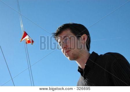Man On Sailboat 2