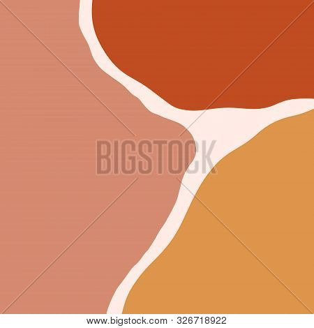 Terracotta Art Print Abstract Modern Digital Painting Fashion Scandinavian Style Color Abstraction P