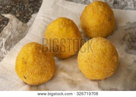 Street Food: Just Fried Stuffed Sicilian Arancine