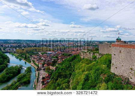 Citadel Of Besancon And River Doubs At Bourgogne