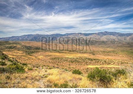 Arizona Mountain Landscape. Wide sweeping view of the vast desert wilderness in southern Arizona poster