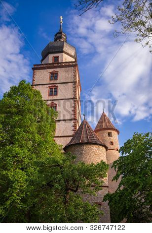 Marienberg Fortress (Festung Marienberg), a symbol of the city and famous landmark, Wurzburg, Franconia, northern Bavaria, Germany