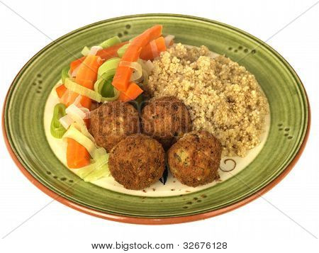 Falafel with Rice and Vegetables