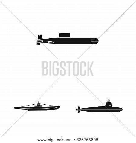Vector Design Of Technology And Fleet Symbol. Set Of Technology And Navy Stock Symbol For Web.