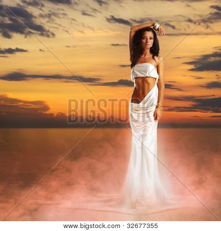 Aphrodite in a light of sunset