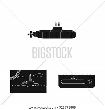 Vector Illustration Of Technology And Fleet Sign. Set Of Technology And Navy Stock Symbol For Web.