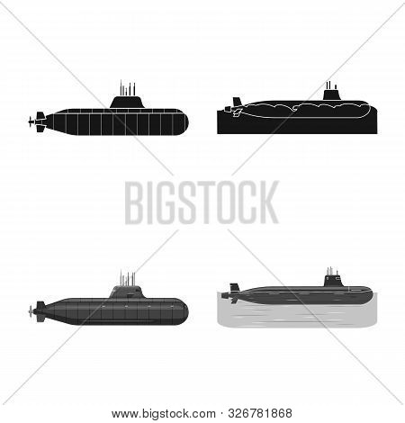 Vector Design Of War And Ship Symbol. Collection Of War And Fleet Stock Vector Illustration.