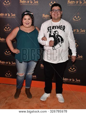 LOS ANGELES - OCT 02:  Raini Rodriguez and Rico Rodriguez arrives for Nights of the Jack VIP Preview on October 02, 2019 in Calabasas, CA