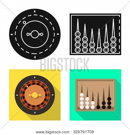 Vector Design Of Entertainment And Competition Symbol. Set Of Entertainment And Rivalry Vector Icon