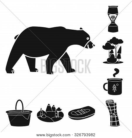 Isolated Object Of Barbeque And Leisure Sign. Collection Of Barbeque And Nature Stock Vector Illustr