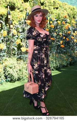 LOS ANGELES - OCT 3:  Christina Hendricks at the 10th Annual Veuve Clicquot Polo Classic Los Angeles at the Will Rogers State Park on October 3, 2019 in Pacific Palisades, CA