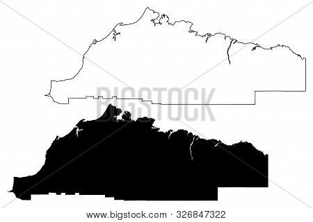 North Slope Borough, Alaska (Boroughs and census areas in Alaska, United States of America,USA, U.S., US) map vector illustration, scribble sketch North Slope map poster
