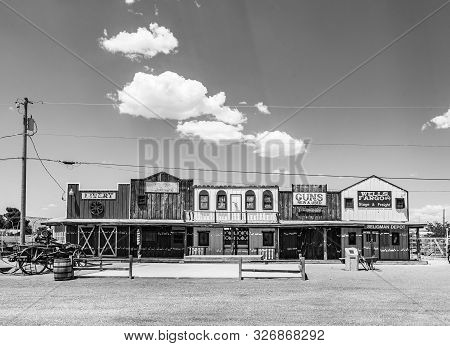 Seligman, Usa - Jul 8, 2008: The Historic Seligman Depot On Historic Route 66 In Seligman, Az, Usa.