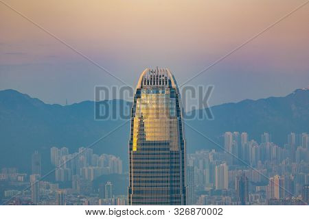 Victoria, Hongkong - January 9, 2010: The International Finance Centre With City Skyline In Victoria