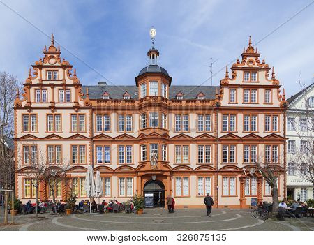 Mainz, Germany - April 14, 2013: House Of Gutenberg In Mainz, Germany. The Gutenberg Museum Is One O