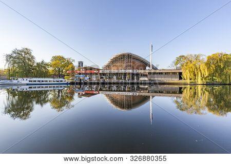 Berlin, Germany - May 2, 2015: The Haus Der Kulturen Der Welt (house Of World Cultures), River Spree