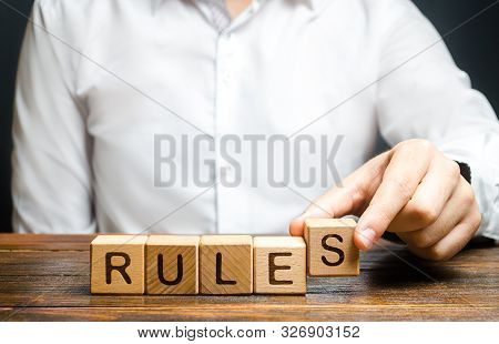 The Man Makes The Rules. Setting Clear Rule And Restrictions. Leadership And Discipline. Authoritari
